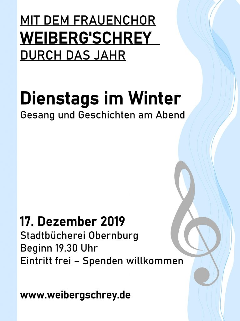 Flyer Dienstags im Winter
